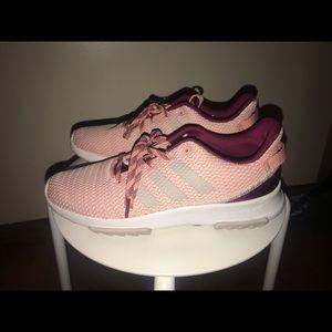Pink Adidas Cloudfoam Sneakers